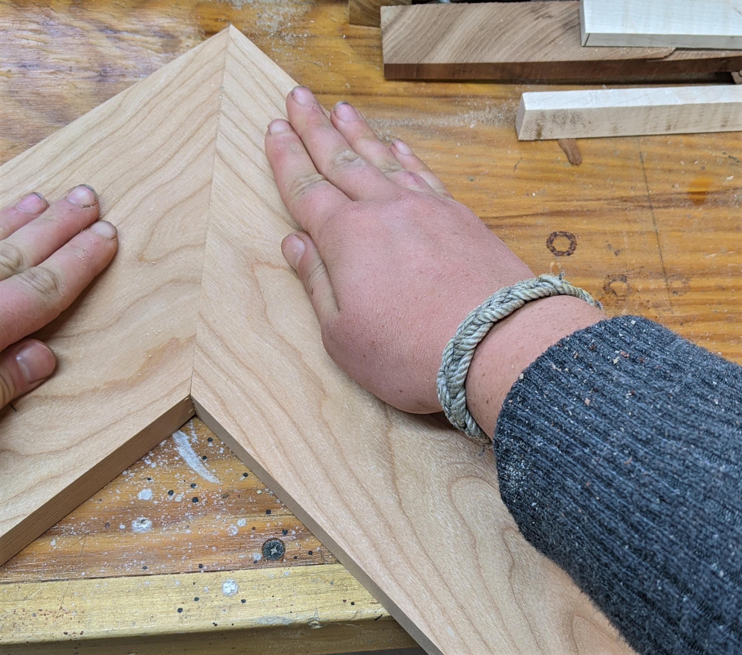 measure and cut shelves